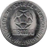 Shell Token - Fußball-WM 1970 Mexico (Jürgen Grabowski) – reverse