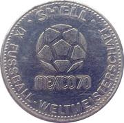 Shell Token - Fußball-WM 1970 Mexico (Johannes Löhr) – reverse