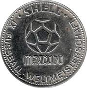 Shell Token - Fußball-WM 1970 Mexico (Horst Höttges) – reverse
