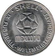 Shell Token - Fußball-WM 1970 Mexico (Klaus Fichtel) – reverse