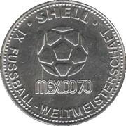 Shell Token - Fußball-WM 1970 Mexico (Berti Vogts) – reverse