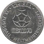 Shell Token - Fußball-WM 1970 Mexico (Uwe Seeler) – reverse