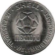 Shell Token - Fußball-WM 1970 Mexico (Wolfgang Weber) – reverse