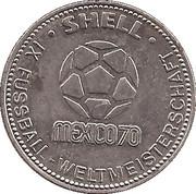 Shell Token - Fußball-WM 1970 Mexico (Reinhard Libuda) – reverse