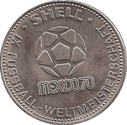Shell Token - Fußball-WM 1970 Mexico (Willi Schulz) – reverse