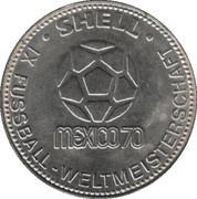 Shell Token - Fußball-WM 1970 Mexico (Sigi Held) – reverse