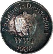 Token - WWF 25 Jahre in Deutschland (Biber) – reverse
