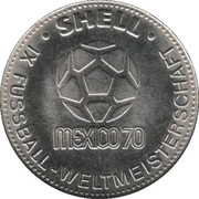Shell Token - Fußball-WM 1970 Mexico (Wolfgang Overath) – reverse