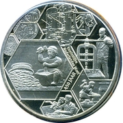 Penning  - 450 years of the Royal Dutch Mint – obverse