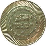 25 Cents - Woodbine – reverse