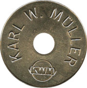 Car Wash Token - Karl W. Müller – obverse