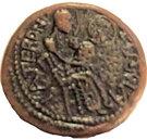 Replica of Copper Trifollaro of Roger I (MARIA MATER DNI) – obverse
