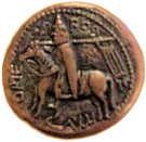 Replica of Copper Trifollaro of Roger I (MARIA MATER DNI) – reverse