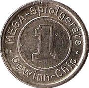 1 Gewinn-Chip (MEGA-Spielgeräte ) – obverse