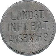 ½ Liter Bier (Landst. Inft. Bat. Ansbach 9) – obverse
