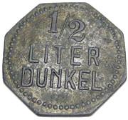 ½ Liter Dunkel Bier - Hofbräu (Rosenheim) – reverse