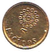 5 Escudos (Miniature coin) – reverse