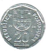20 Escudos (Miniature coin) – obverse