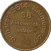 Car Wash Token - SB Autowaschanlage – reverse