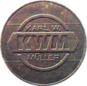 Car Wash Token - Karl W. Müller (KWM - 225) – obverse