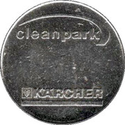 Car Wash Token - Kärcher Clean Park (Bensheim) – reverse