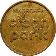 Car Wash Token - Kärcher Clean Park (Werkstatt Braun) – reverse