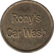 Car Wash Token - Rony's Car Wash – obverse
