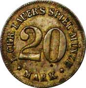 20 Mark (Spiel-Münze Lauers) – reverse