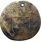 Counter Token - Louis XIIII (Wolf Lauffer II) – reverse