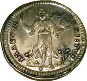 Nürnberg Kerzendreier  (3 candle baptismal token) – obverse