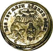 Nürnberg Kerzendreier  (3 candle baptismal token) – reverse