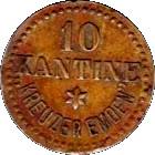10 Kantine Kreuzer Emden – obverse