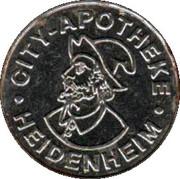 City Gulden - City Apotheke (Heidenheim) – obverse