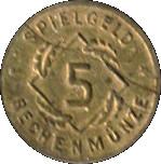 5 Pfennig (Spielgeld Rechenmünze; German Reich) – reverse