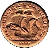 2.5 Escudos (Miniature coin; Bronze) – obverse