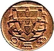 2.5 Escudos (Miniature coin; Bronze) – reverse