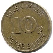 10 Pence - Peter Simper – obverse