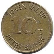 10 Pence - Peter Simper – reverse