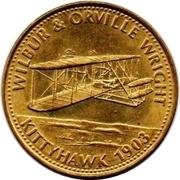 Shell Token - Man In Flight (Wilbur & Orville Wright) – obverse