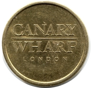 Parking Token - Canary Wharf London (20 mm) – reverse