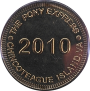 Token - The Pony Express (Chincoteague Island, VA) – obverse