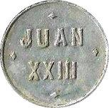 Token - Las Violetas - Juan  XXIII – reverse