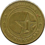 Token - 1 (Star; No Cash Value) – obverse