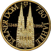Token - 750 Years Cologne Cathedral – obverse