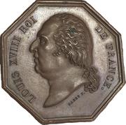 Chambre de commerce d'Amiens - Louis XVIII – obverse