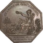 Chambre de commerce d'Amiens - Louis XVIII – reverse