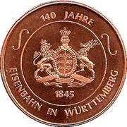 Token - 150 years of German Railroads (Eisenbahn in Württemberg - Adler) – obverse