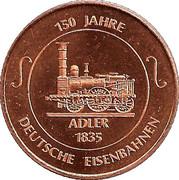 Token - 150 years of German Railroads (Eisenbahn in Württemberg - Adler) – reverse