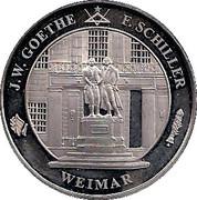 Token - Weimar (Göhte and Schiller) – obverse