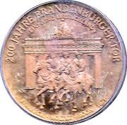 Token - Einigkeit und Recht und Freiheit (200 Jahre Brandenburger Tor) – obverse